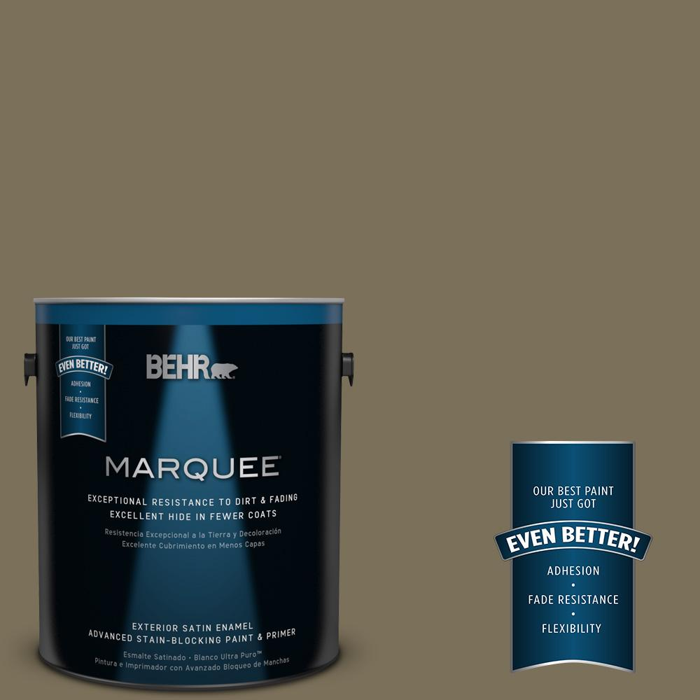 BEHR MARQUEE 1-gal. #380F-7 Crocodile Satin Enamel Exterior Paint