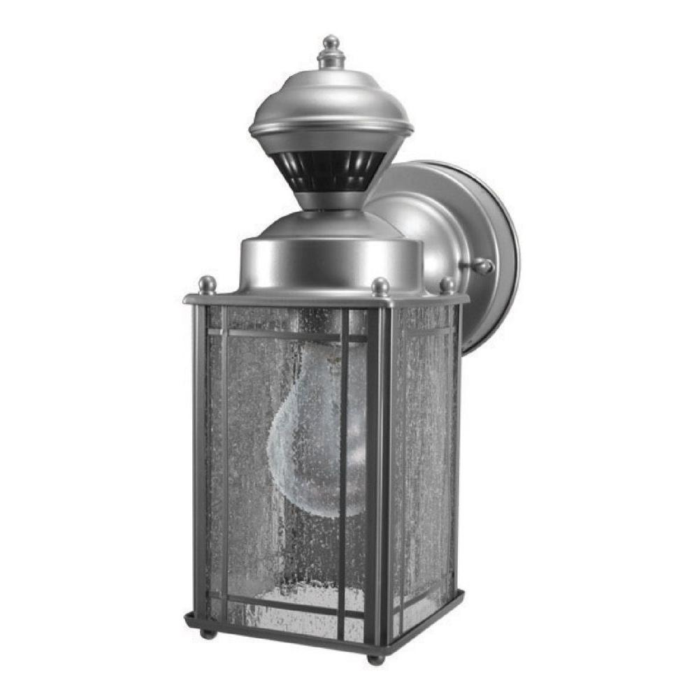 Heath Zenith Shaker Cove Mission 150-Degree Outdoor Silver Motion-Sensing Lantern