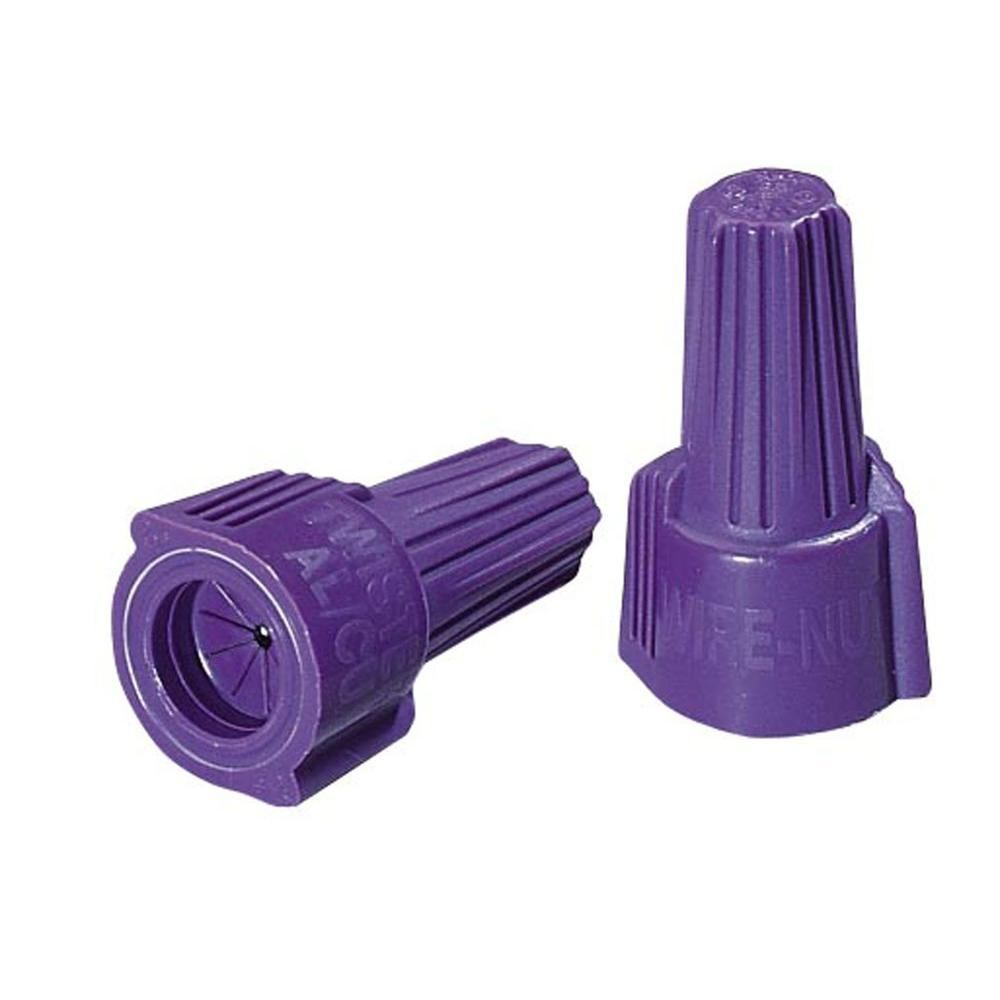 Ideal Twister Al/Cu Wire Connectors, 65 Purple (10-Pack)