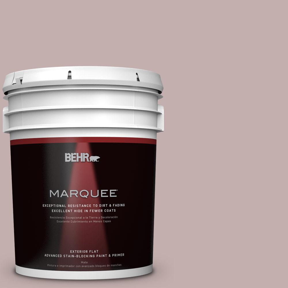 BEHR MARQUEE 5-gal. #N130-3 Moonlit Mauve Flat Exterior Paint-445005 - The