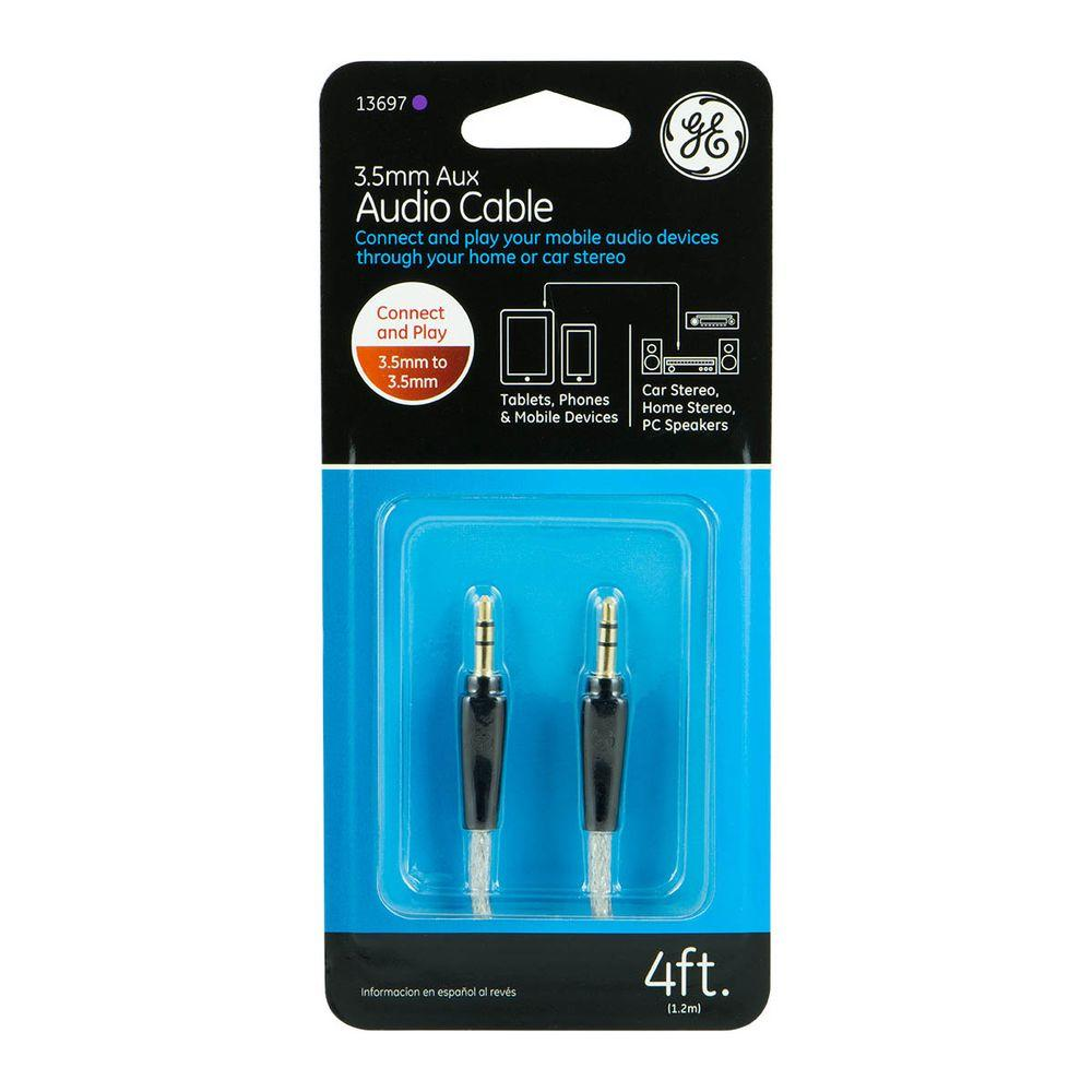 4 ft. 3.5 mm to 3.5 mm Auxiliary Audio Cable -