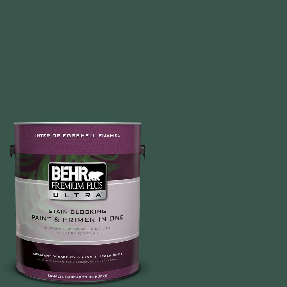 BEHR Premium Plus Ultra 1-gal. #PPF-02 Patio Green Eggshell Enamel Interior Paint