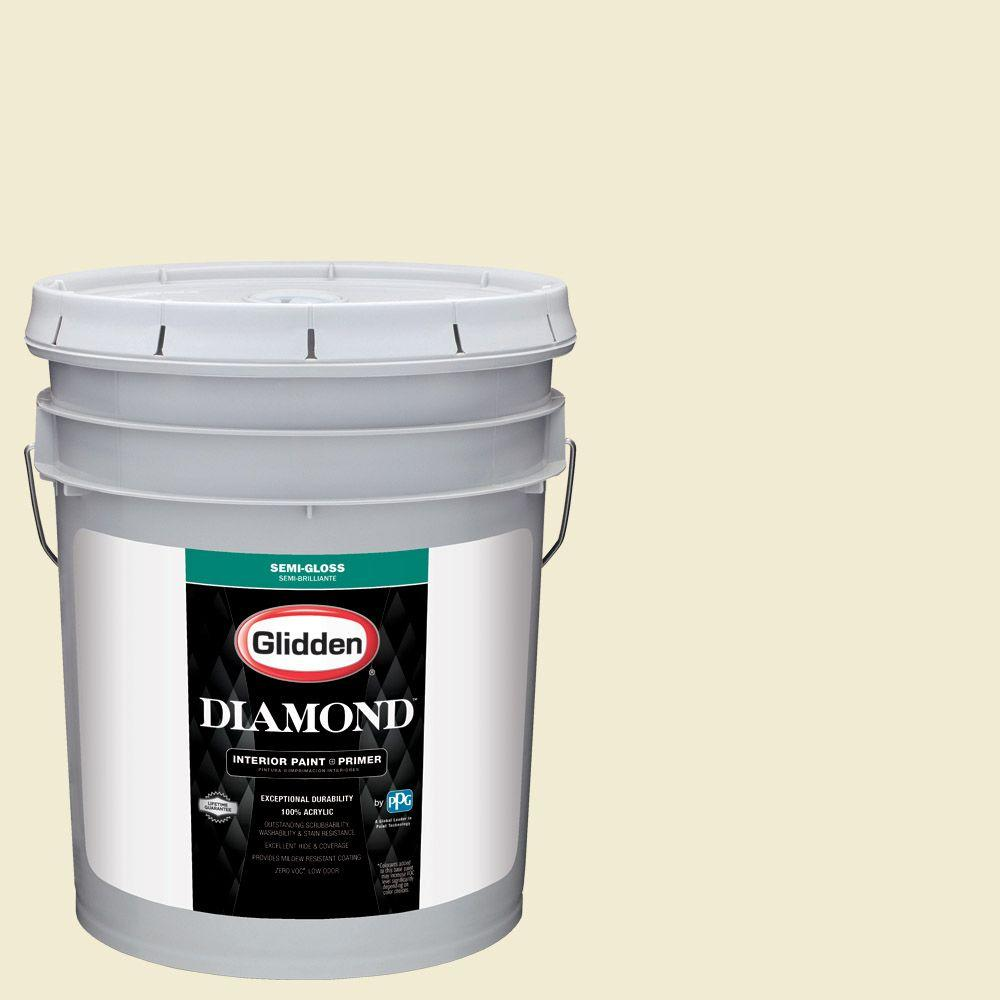 Glidden Diamond 5 gal. #HDGY48 Pineapple Sorbet Semi-Gloss Interior Paint with