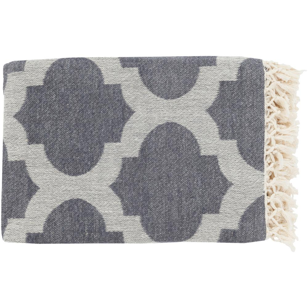 Mallory Charcoal Cotton Throw