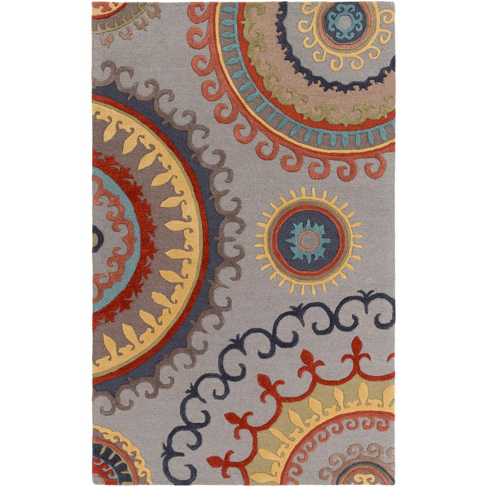 Lounge Alanna Gray 5 ft. x 8 ft. Indoor Area Rug