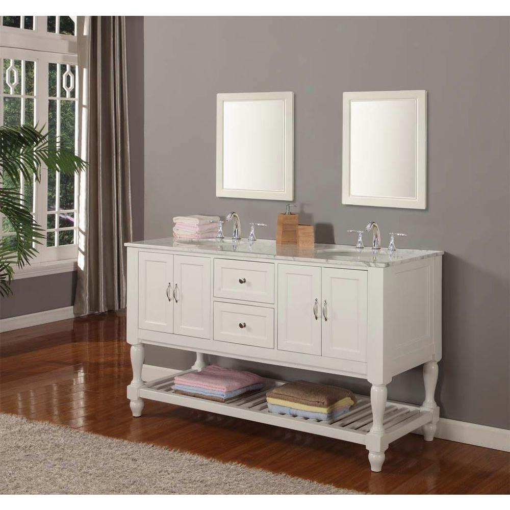 Direct Vanity Sink Mission Turnleg  In Double Vanity In Pearl - Double sink vanity mirror
