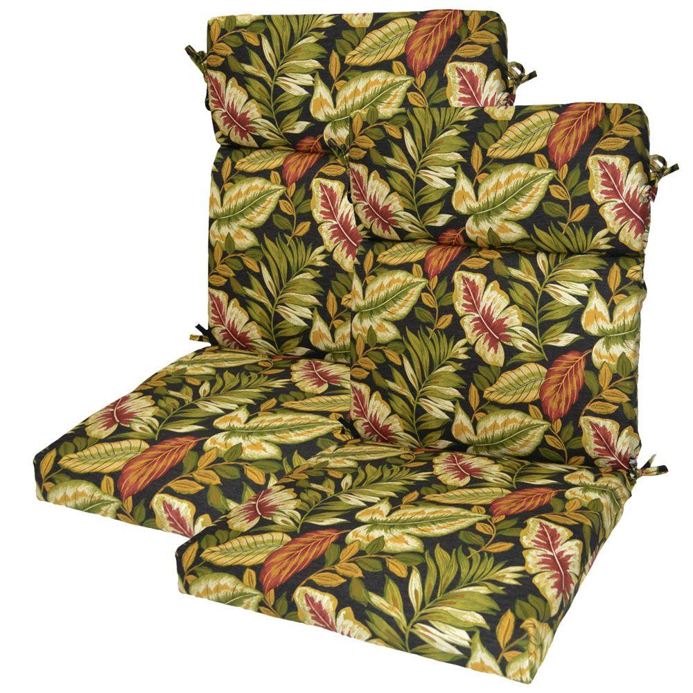 null Twilight Palm High Back Outdoor Chair Cushion (2-Pack)-DISCONTINUED