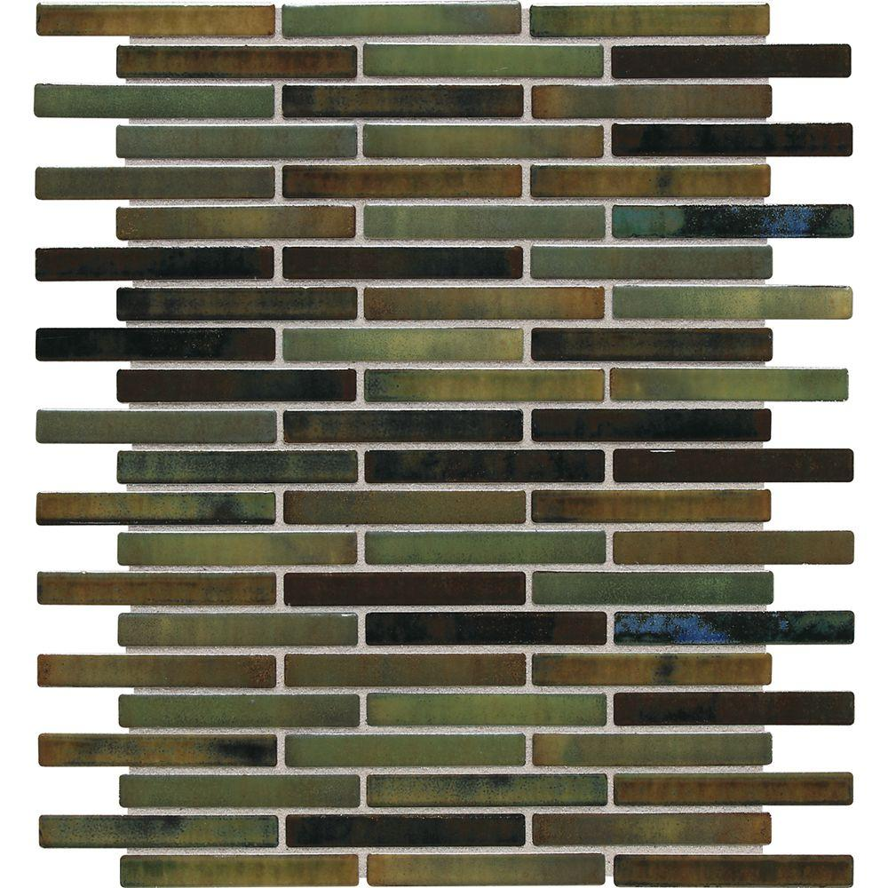 Daltile Fashion Accents Illumini Meadow 12 in. x 12 in. x 8mm Random Porcelain Mosaic Wall Tile