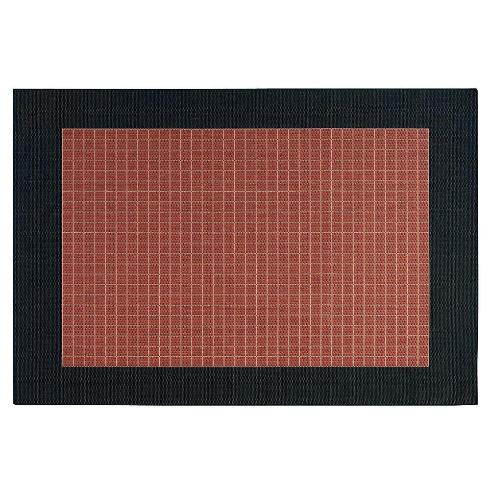Checkered Field Terra Cotta 1 ft. 8 in. x 3 ft.
