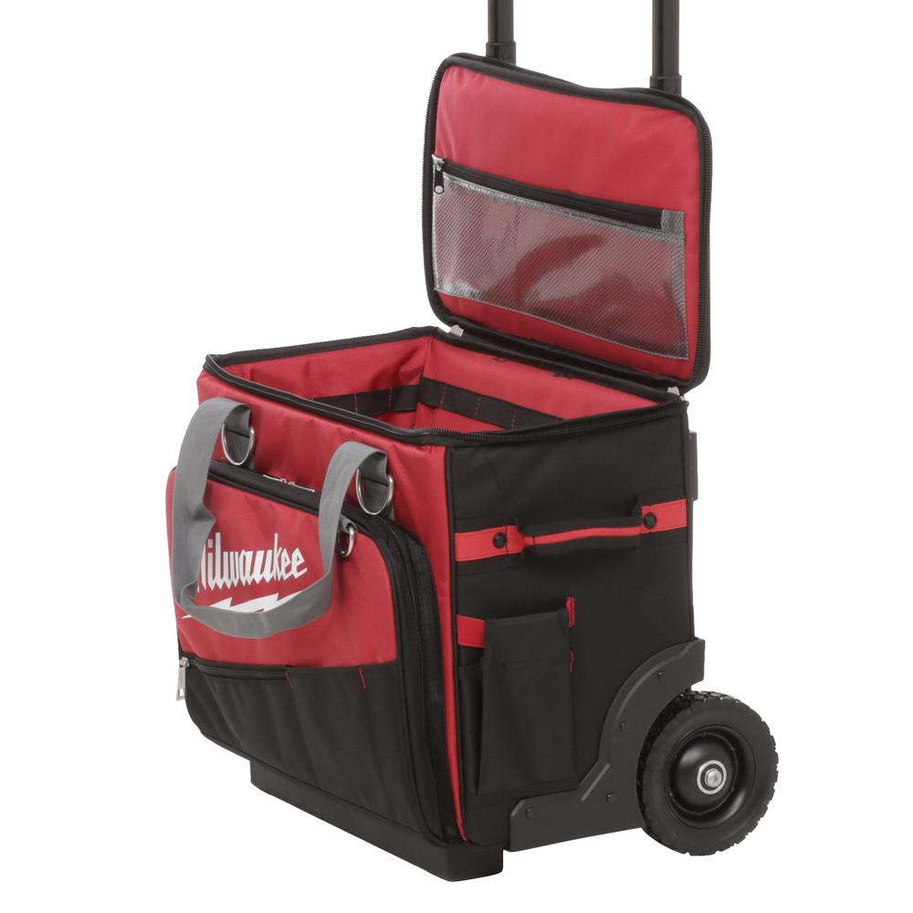 Milwaukee wheeled tool bag shower flick mixer