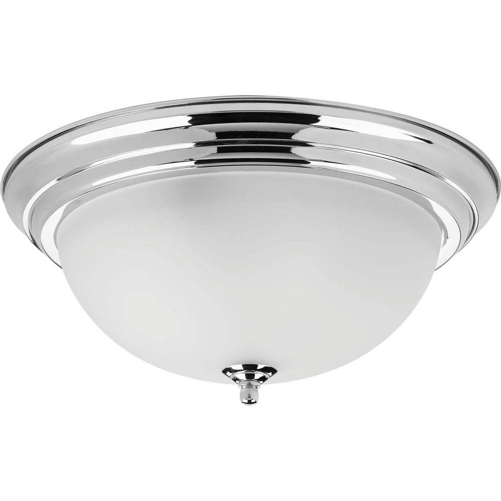 Dome Ceiling Light: Progress Lighting Dome Glass Collection 3-Light Polished