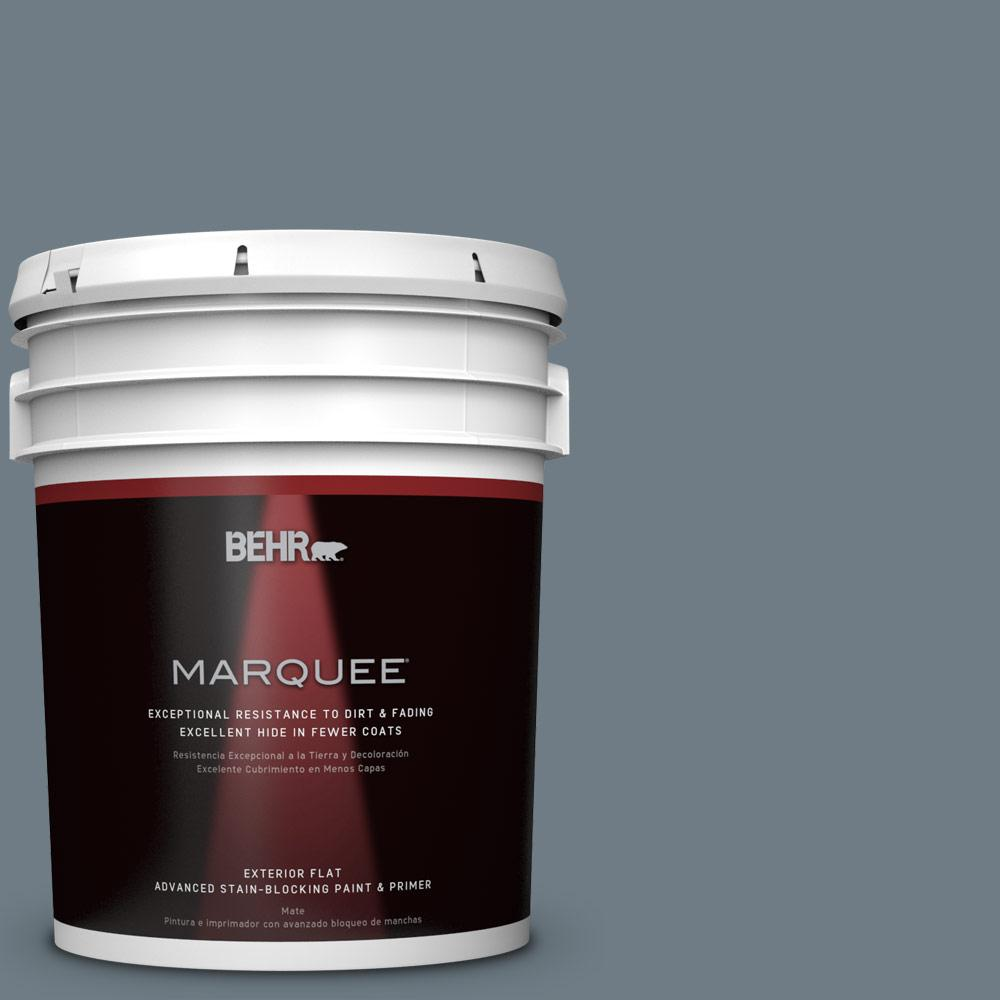 5-gal. #N490-5 Charcoal Blue Flat Exterior Paint
