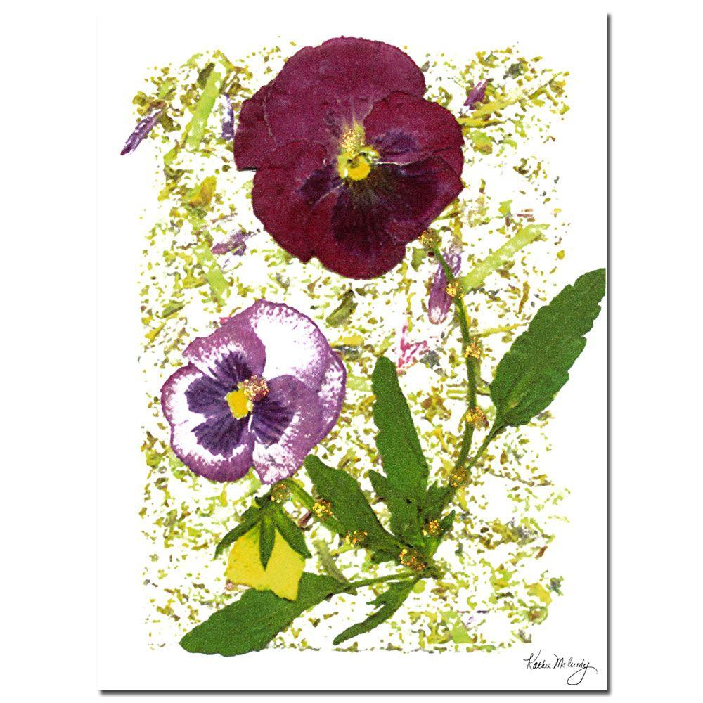 Trademark Fine Art 18 in. x 24 in. Plum Pansy Canvas Art