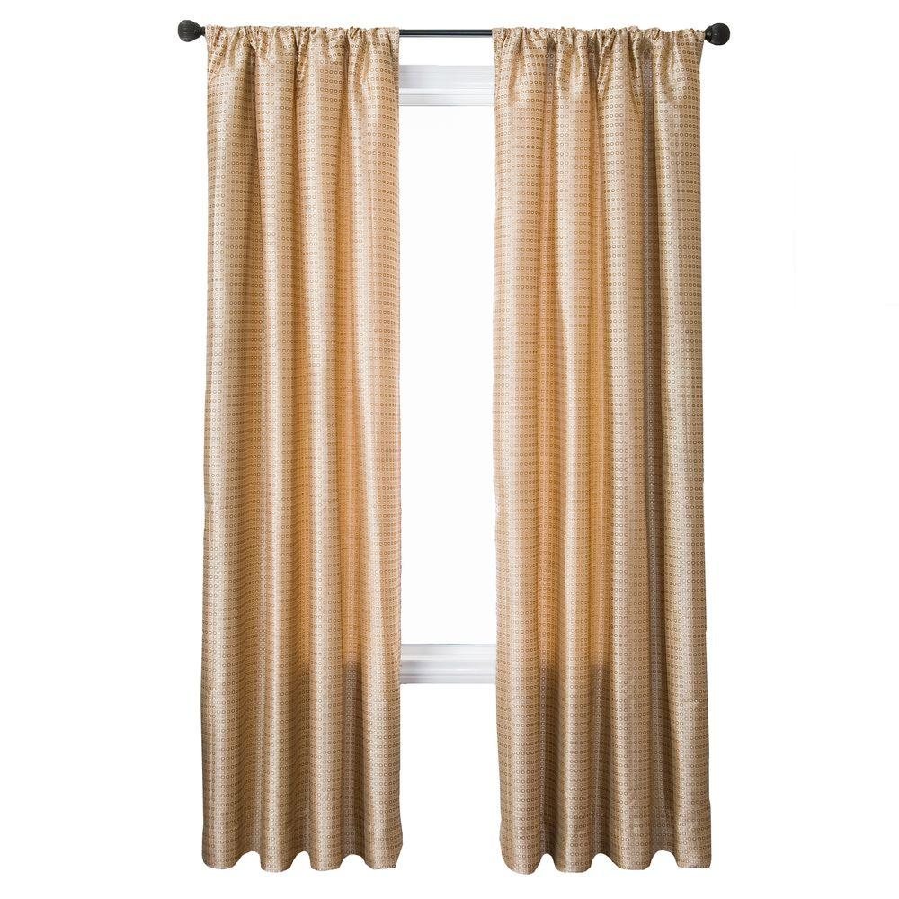 Home Decorators Collection Pebble Cavalli Circle Rod Pocket Curtain - 55 in.W x 96 in. L