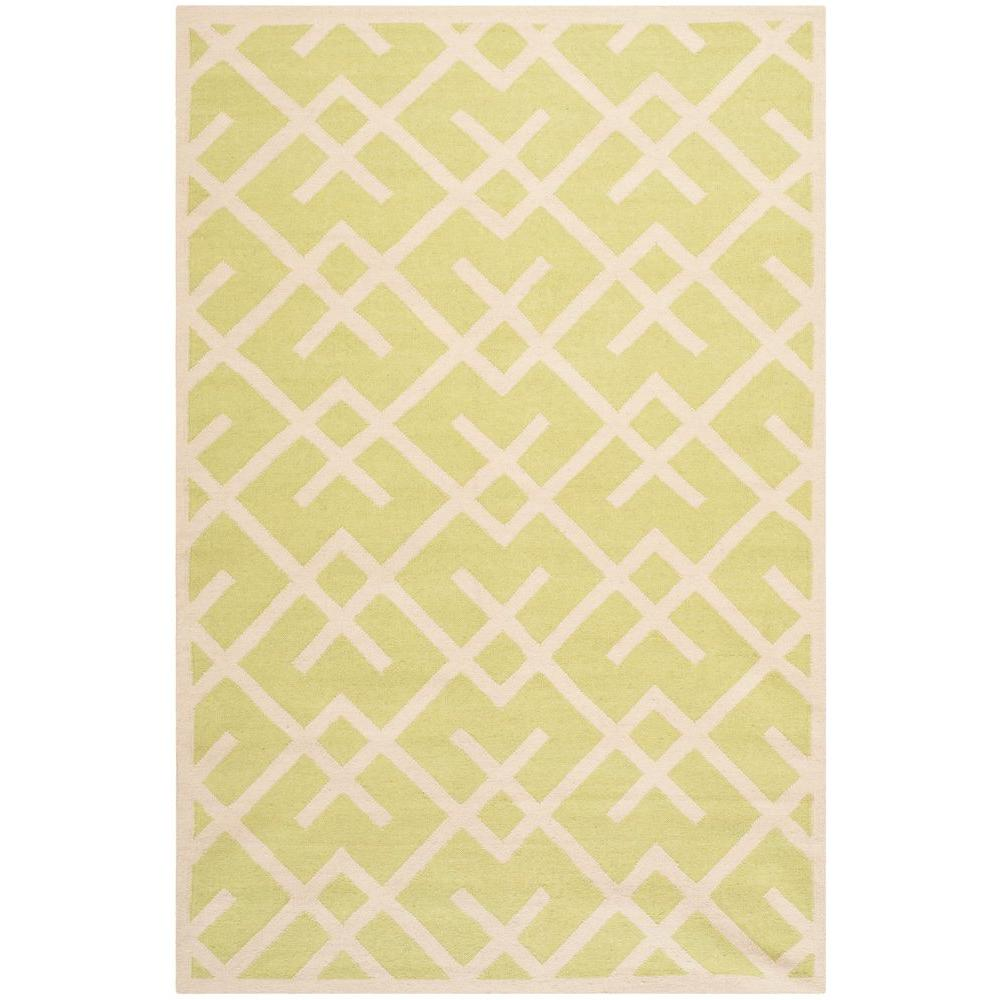 Dhurries Light Green/Ivory 3 ft. x 5 ft. Area Rug