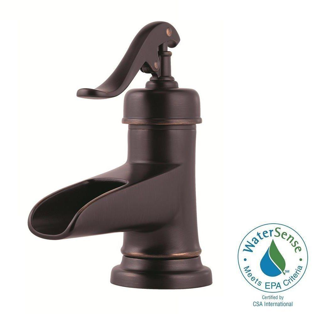 Pfister Ashfield 4 in. Centerset Single-Handle Bathroom Faucet in Tuscan Bronze