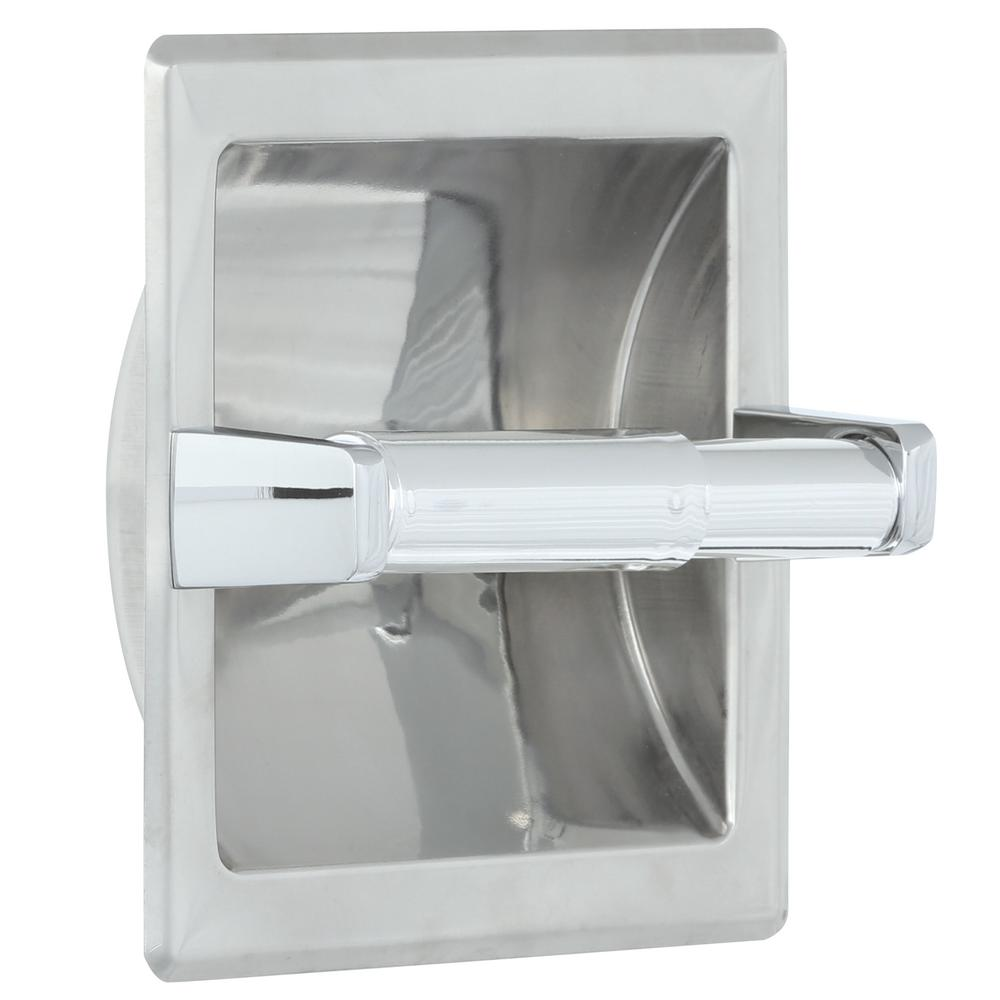 In Wall Toilet Paper Holder toilet paper holders - bathroom hardware - the home depot