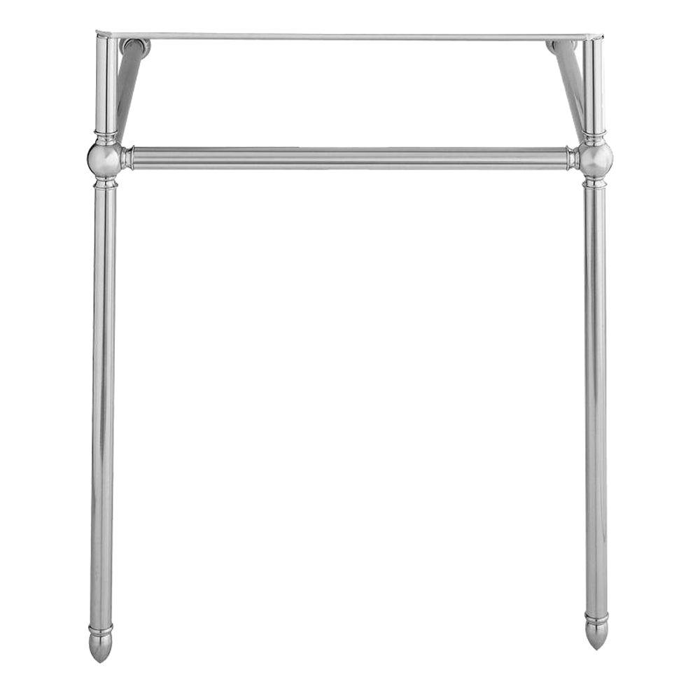 Porcher Lutezia Console Legs in Polished Chrome-DISCONTINUED