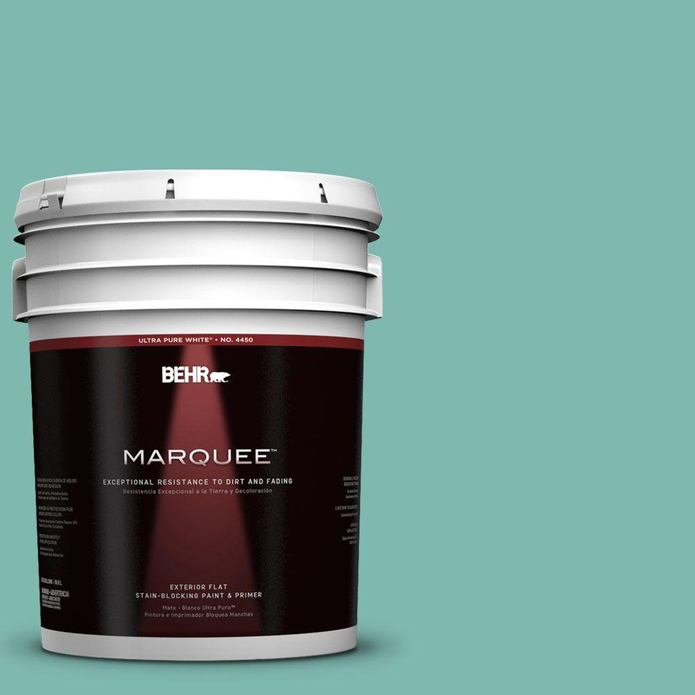 BEHR MARQUEE 5-gal. #490D-5 Winter Surf Flat Exterior Paint