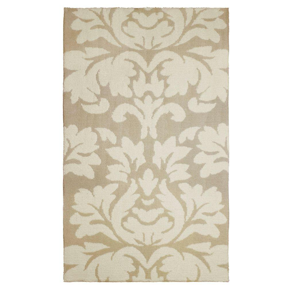 Kent Plush Knit Taupe 2 ft. x 4 ft. Accent Rug
