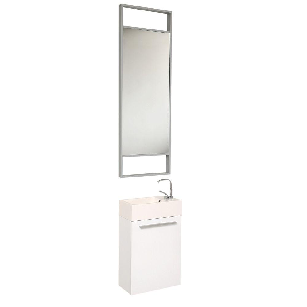 Pulito 16 in. Vanity in White with Acrylic Vanity Top in