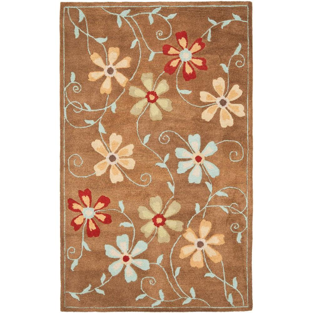 Blossom Camel/Multi 4 ft. x 6 ft. Area Rug
