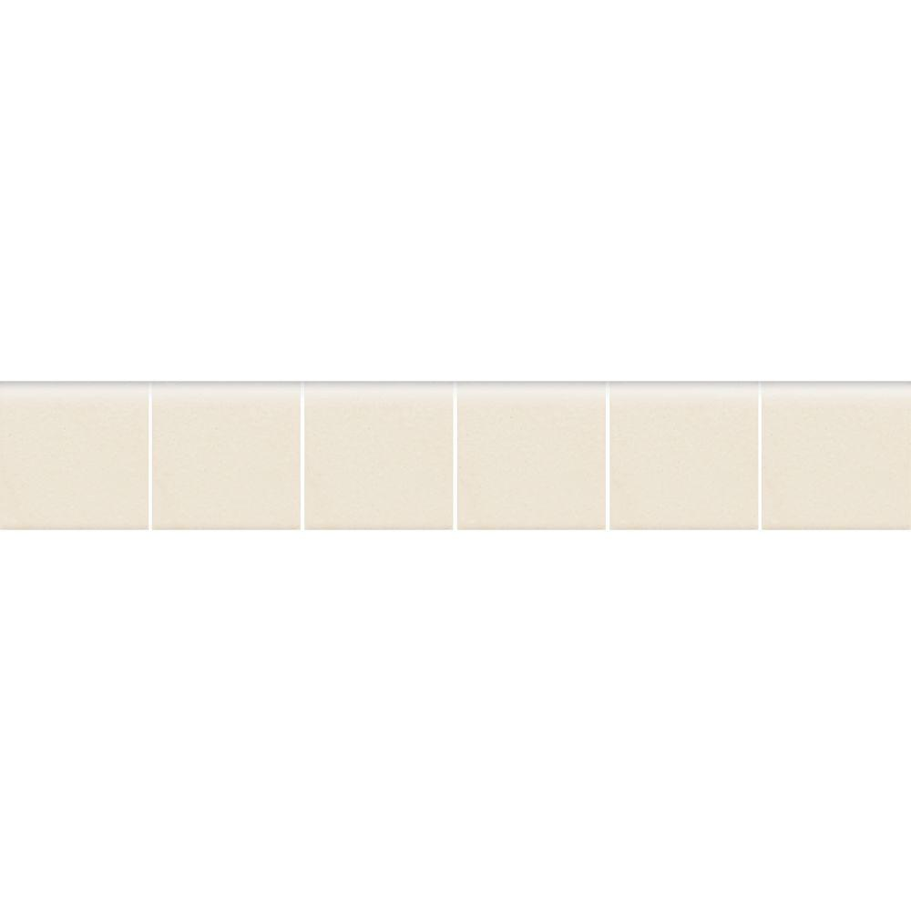 Daltile Keystones Unglazed Biscuit 2 in. x 12 in. x 6 mm Porcelain Mosaic Bullnose Floor and Wall Tile