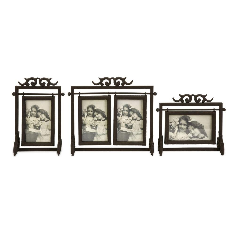 Lenor 1-Opening 4 in. x 6 in. Brown Picture Frame (Set