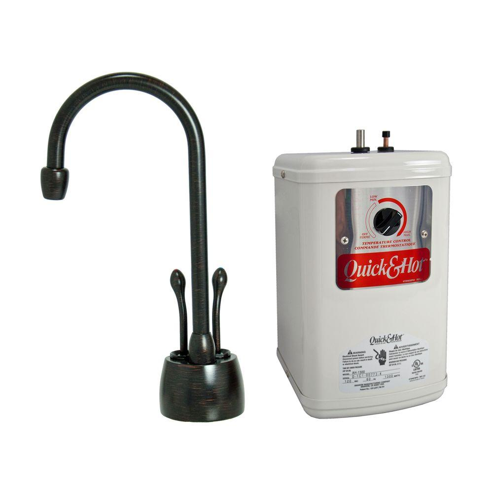 2-Handle Hot and Cold Water Dispenser Faucet with Heating Tank in