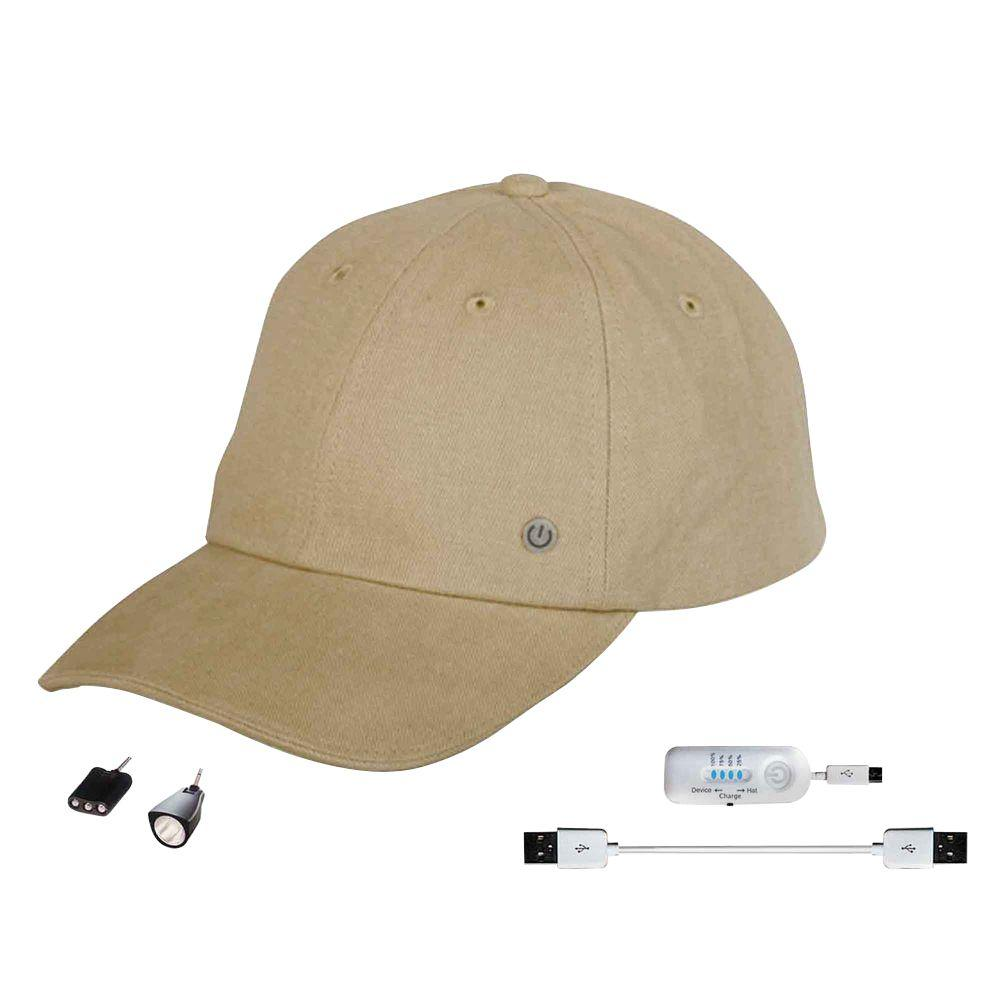 Power Gear Rechargeable Hat with Attachable LED Light, Stone