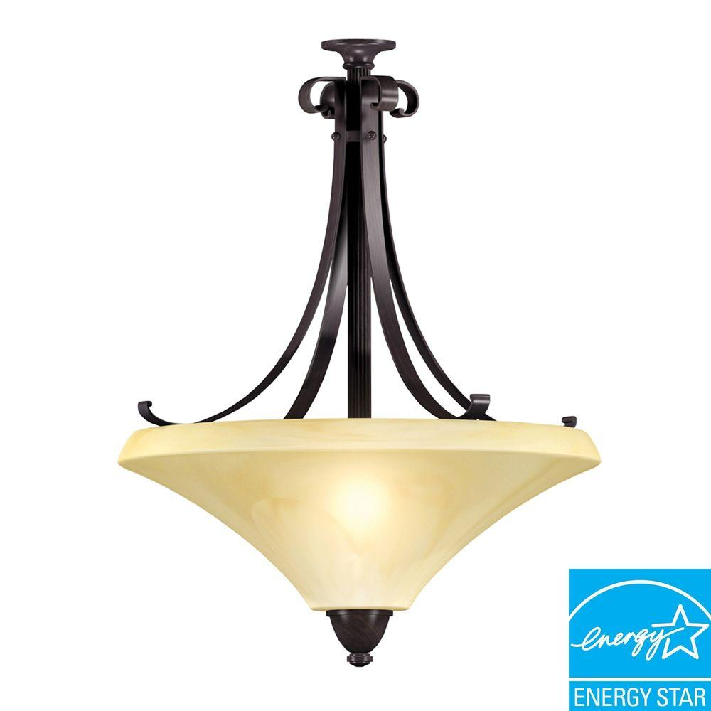 Aspects Swain 3-Light Oil-Rubbed Bronze Large Pendant