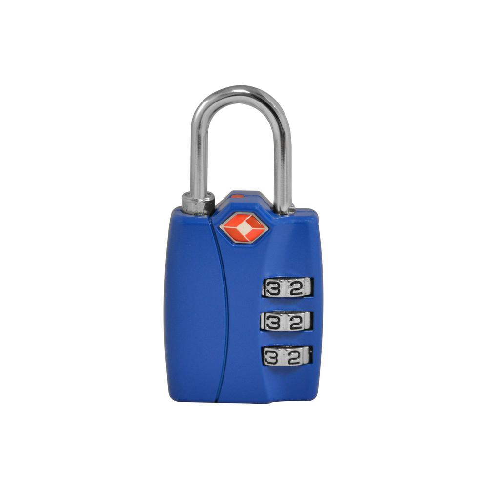 3-Digit Combination Padlock in Blue