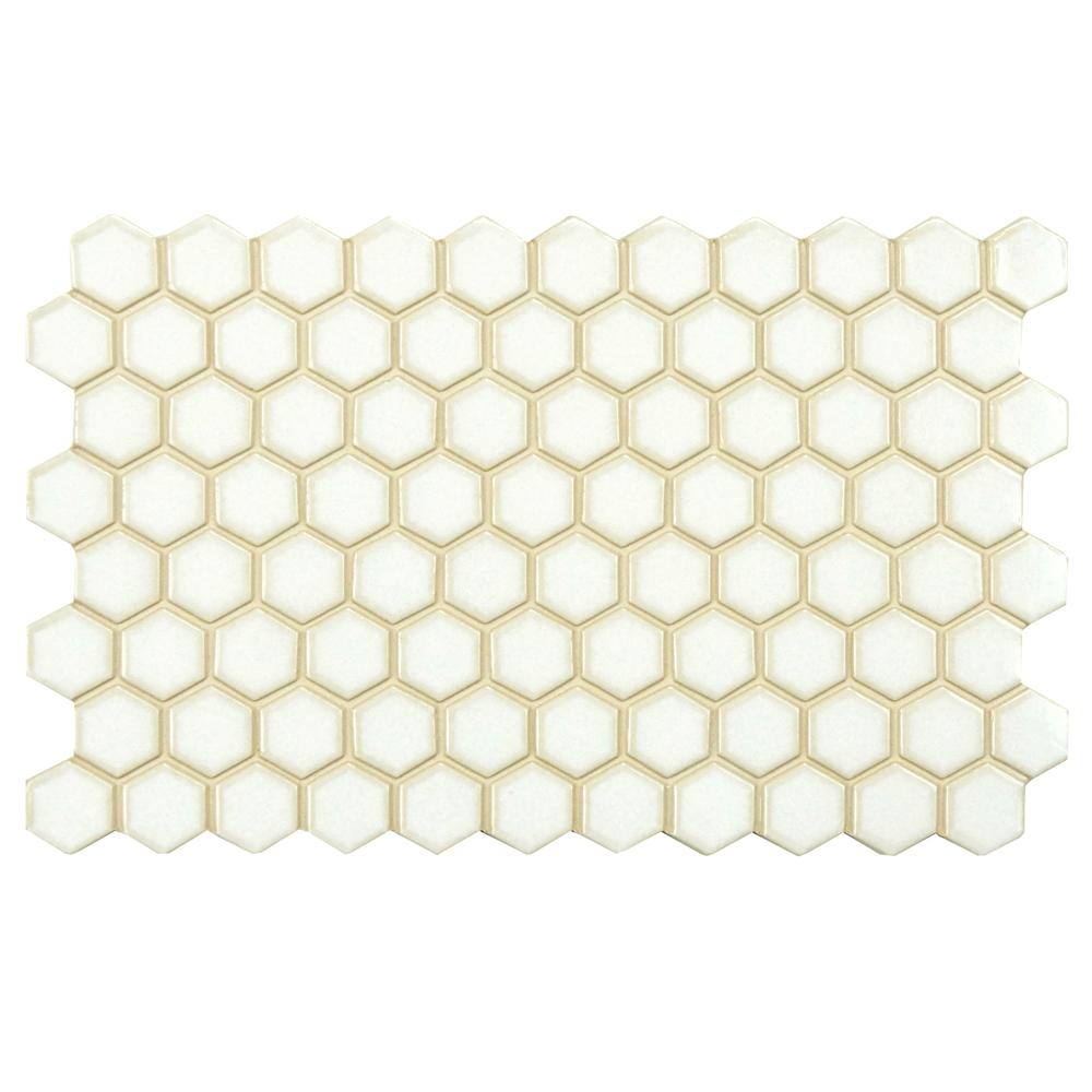 Merola Tile Casella Cisne 5-1/2 in. x 9 in. White Porcelain Floor and Wall Tile