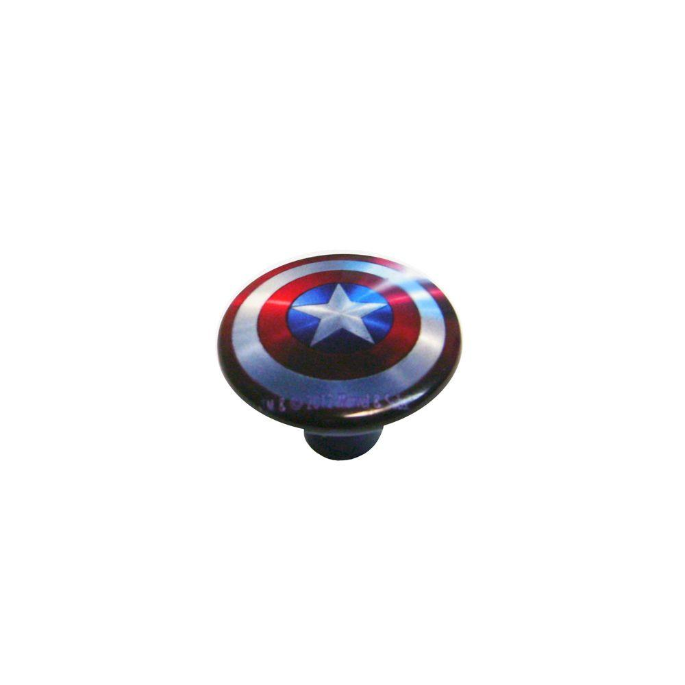 Rish Painted Captain America 1.18 in. Cabinet Knob-DISCONTINUED