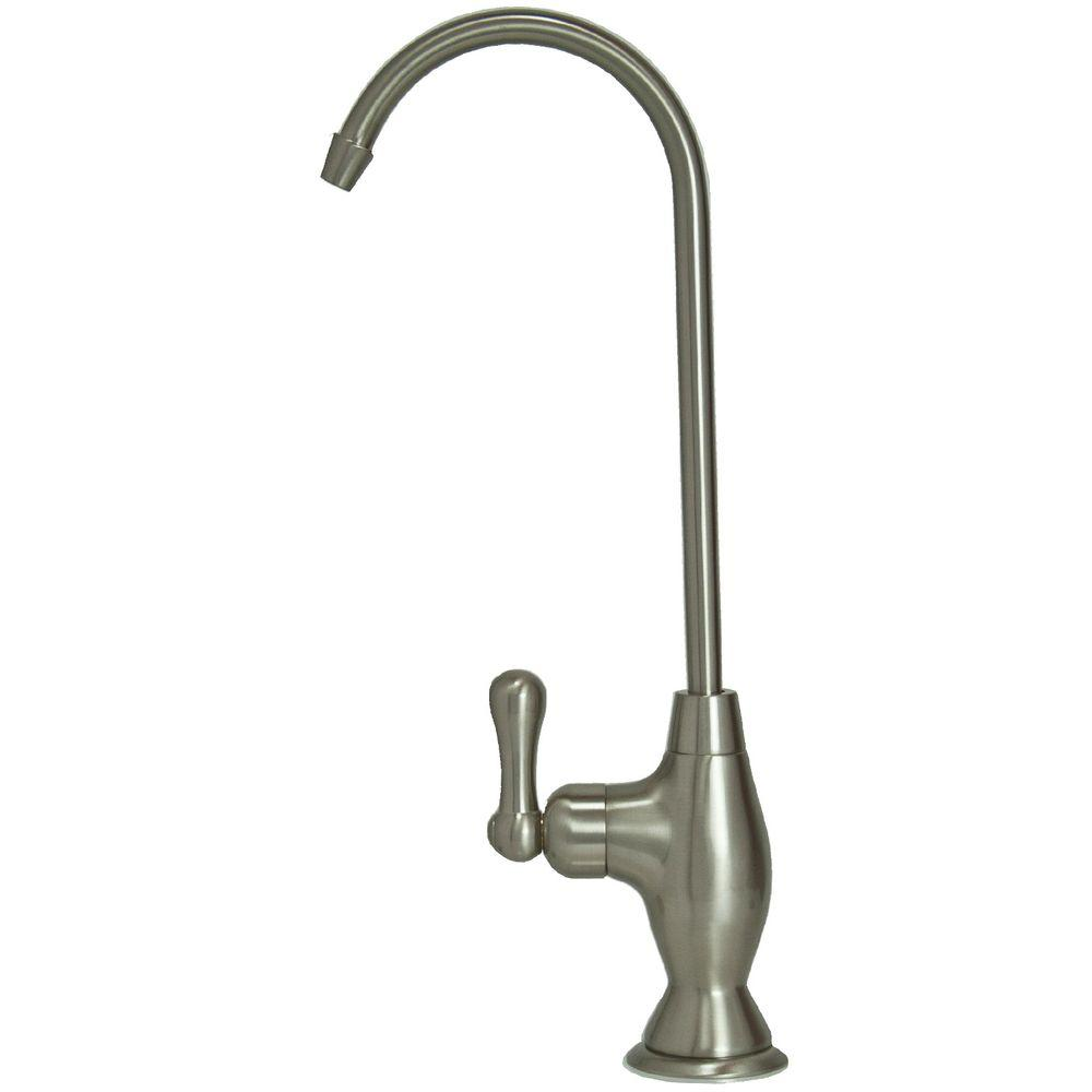 null Single-Handle Standard Kitchen Faucet in Brushed Nickel