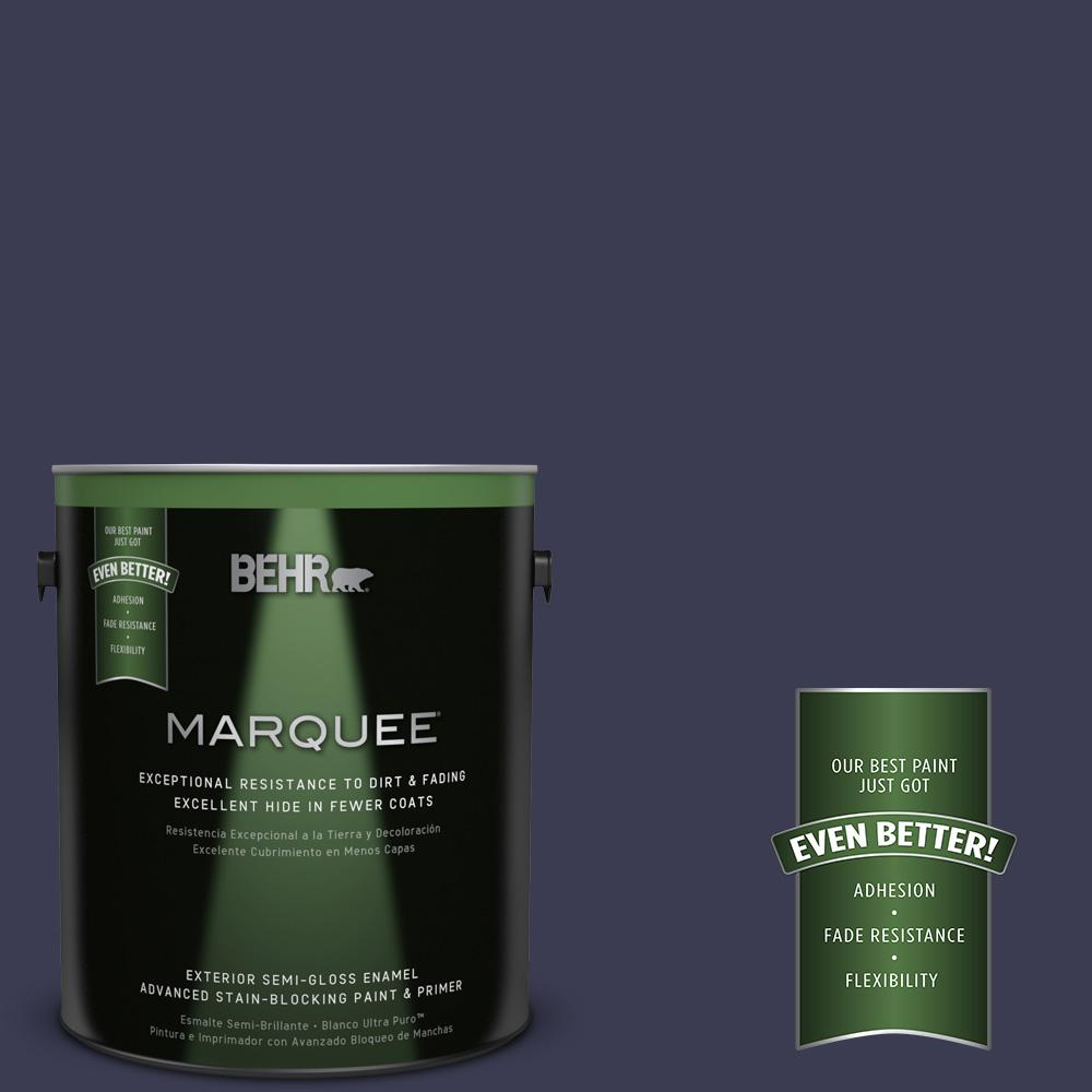 BEHR MARQUEE 1 gal. #HDC-WR16-03 Blueberry Tart Semi-Gloss Enamel Exterior