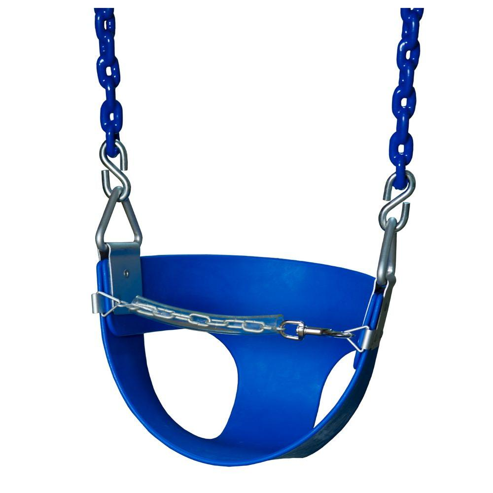 Gorilla Playsets Half-Bucket Swing with Chain in Blue