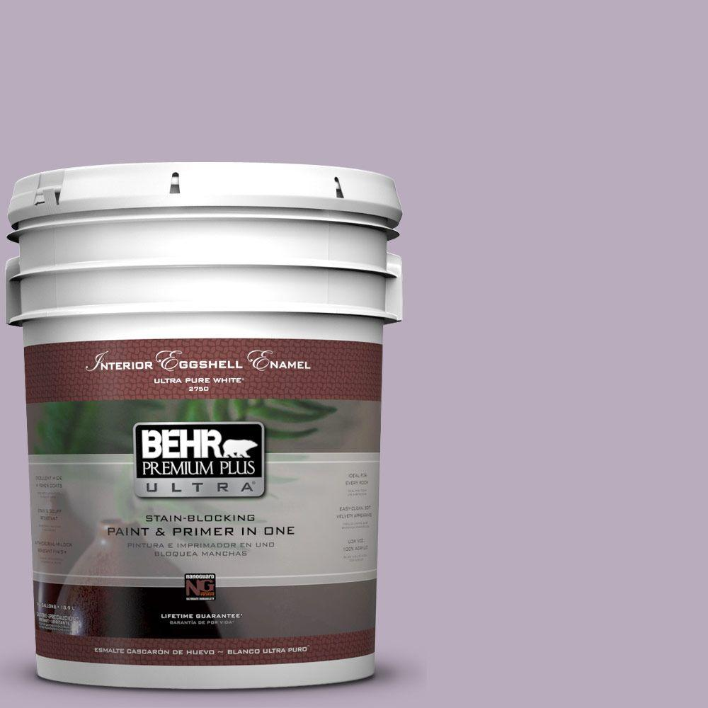 5-gal. #HDC-SP14-12 Exclusive Violet Eggshell Enamel Interior Paint