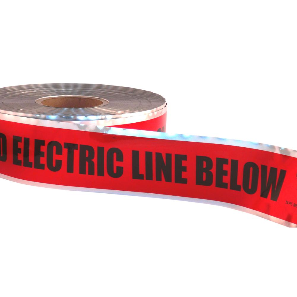 3 in. x 1,000 ft. Detectable Underground Tape Caution Buried Electric
