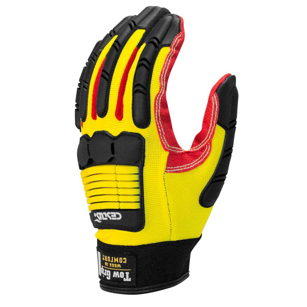 3XL Yellow Tow Grip SC Gloves (1-Pack)