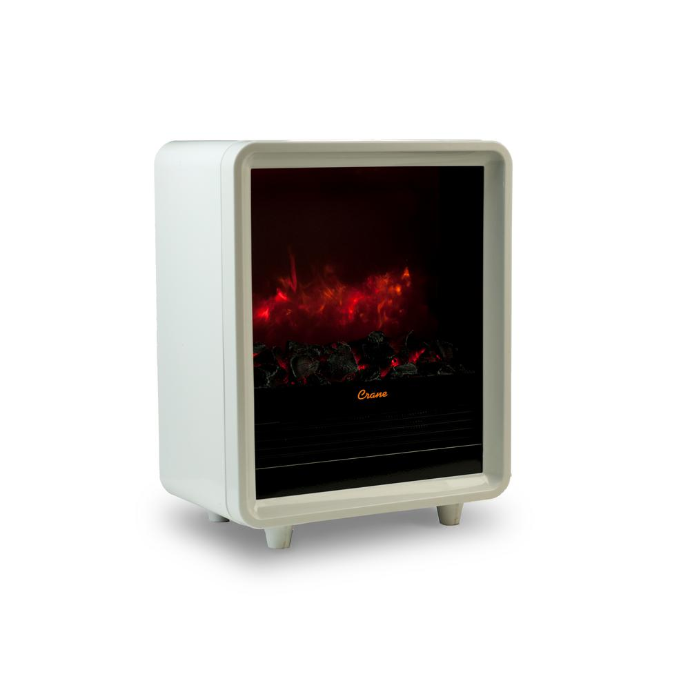 Electric Fireplace Heaters Home Depot: Crane 1500 Watt Mini Fireplace Ceramic Electric Portable