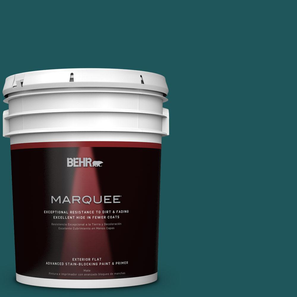 5-gal. #PPF-56 Terrace Teal Flat Exterior Paint