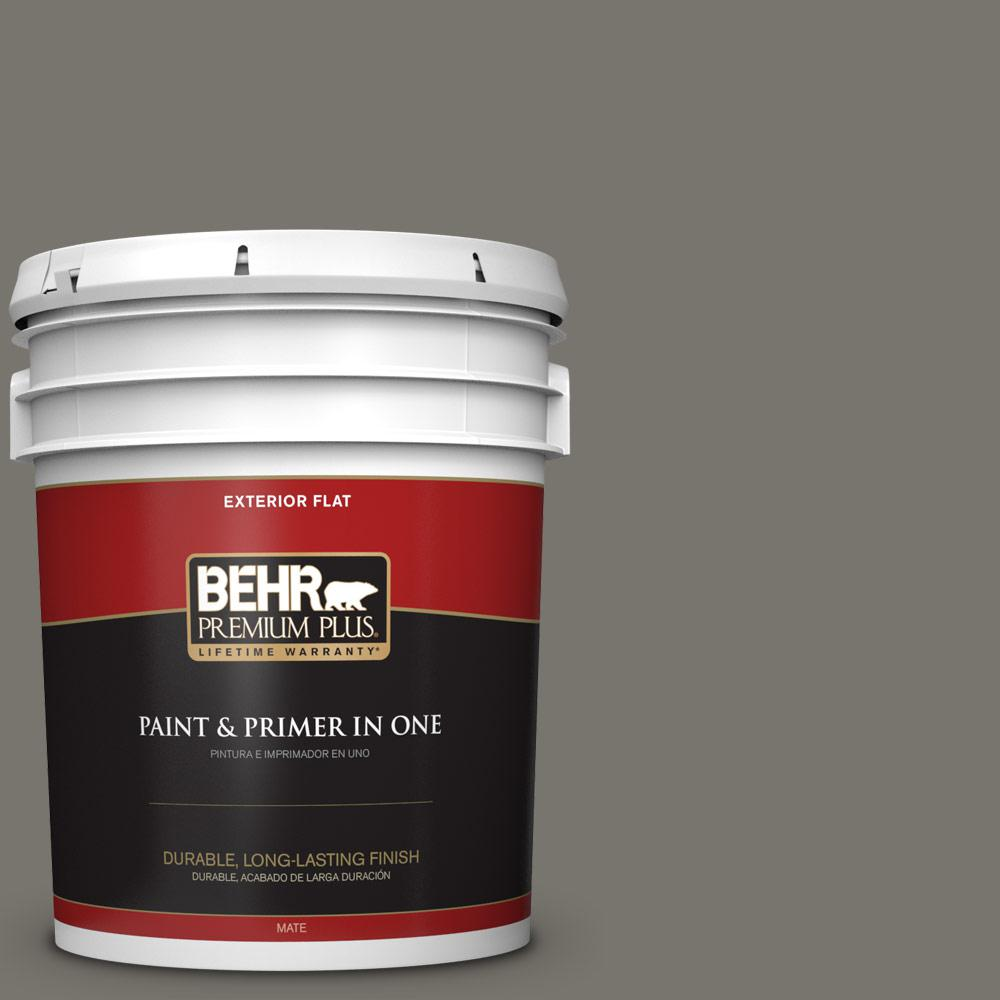 5 gal. #PPU24-06 Slippery Shale Flat Exterior Paint