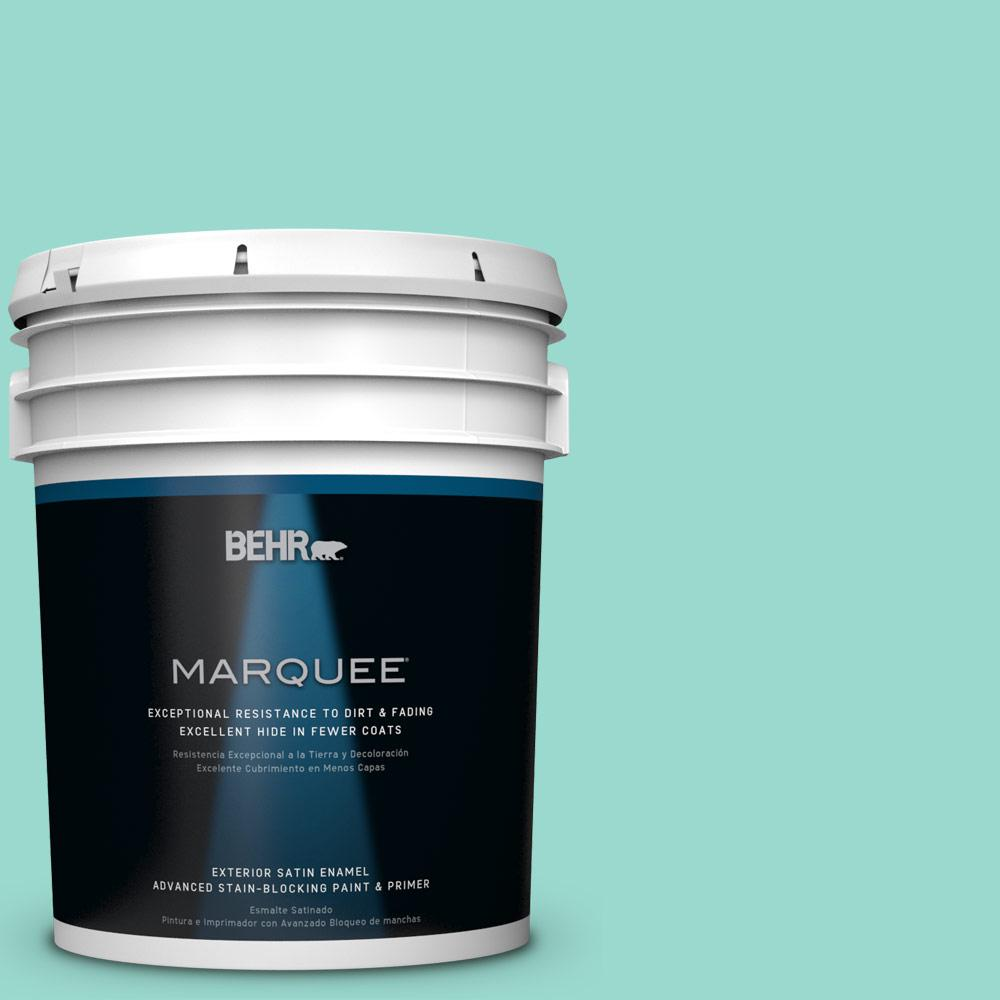 BEHR MARQUEE 5-gal. #P440-3 Fish Pond Satin Enamel Exterior Paint