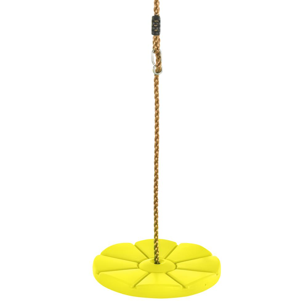 Cool Disc Swing With Adjustable Rope - Fully Assembled - Yellow