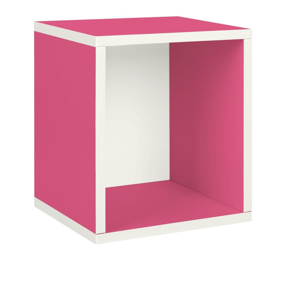 Way Basics zBoard Eco 15.5 in. x 13.4 in. Stackable Storage Cube Organizer in Pink