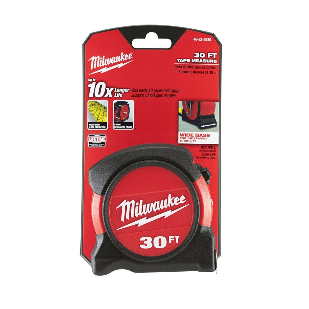 Milwaukee 30 ft. General Contractor Tape Measure-48-22-5530 - The Home Depot