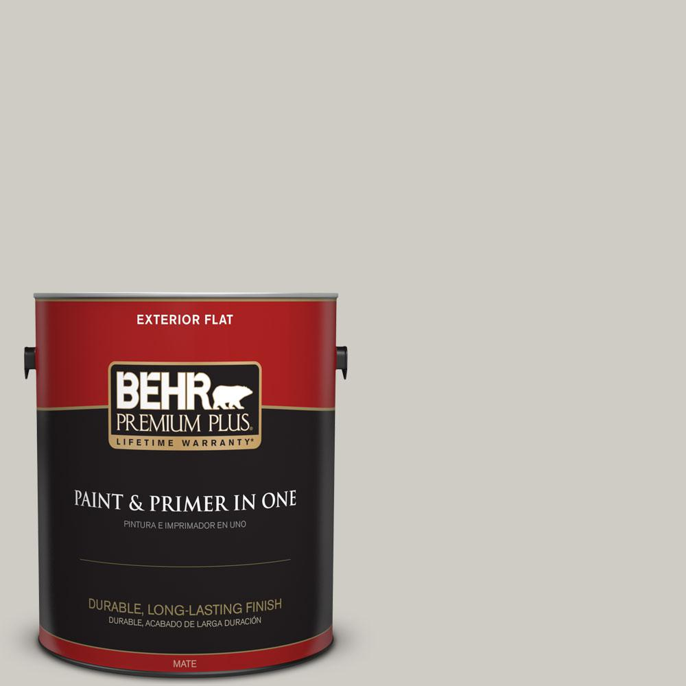 1-gal. #BNC-05 Ground Fog Flat Exterior Paint