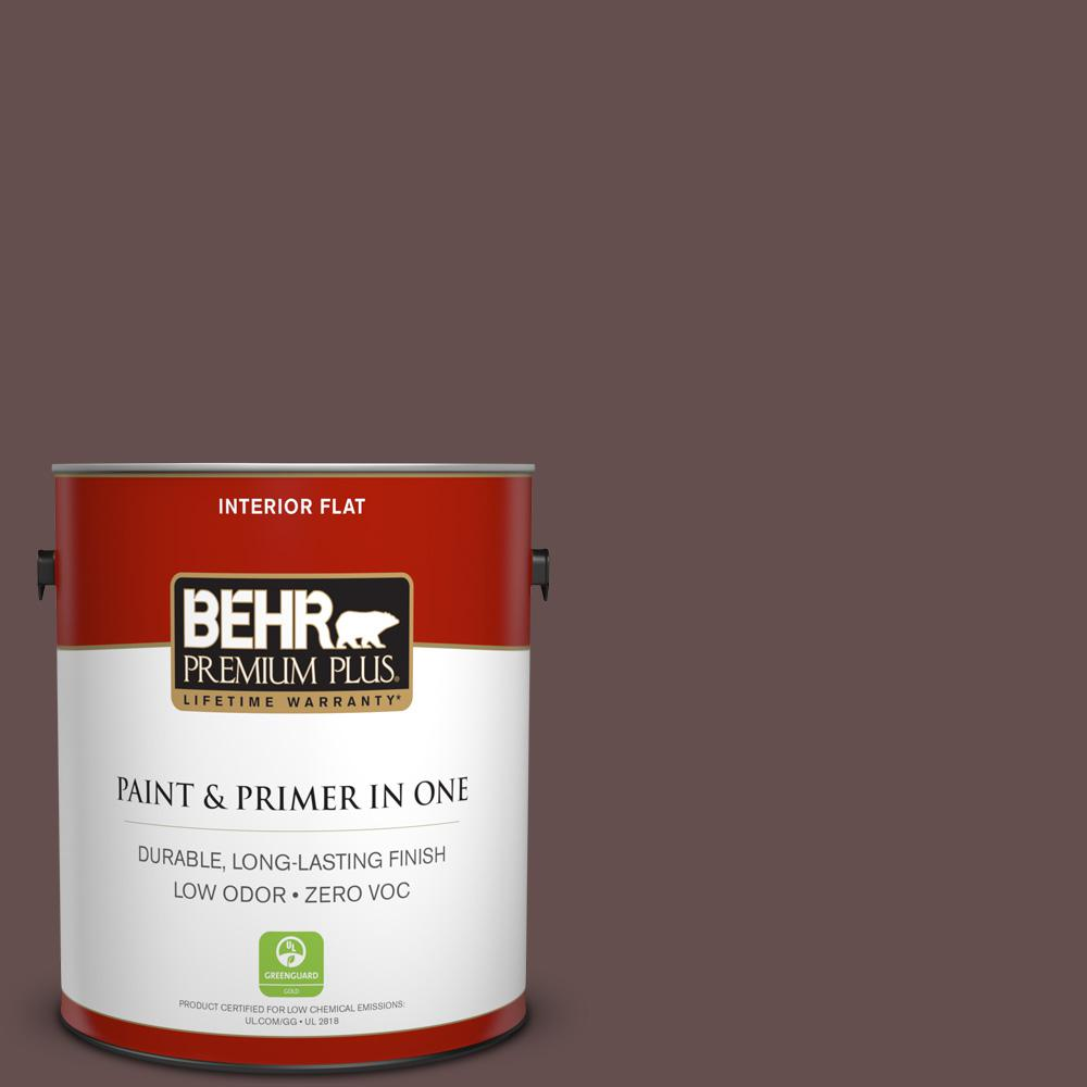 1 gal. #HDC-CL-13A Library Leather Zero VOC Flat Interior Paint