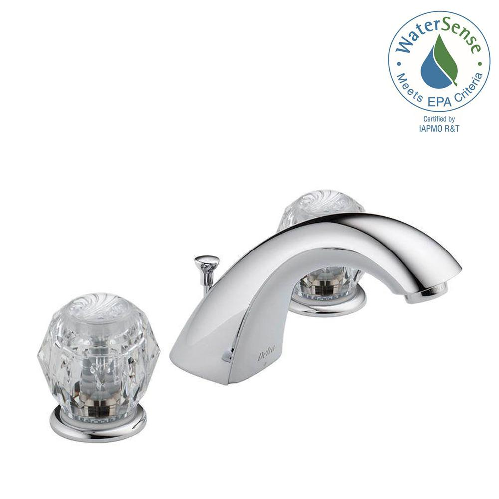 Delta Classic 8 in. Widespread 2-Handle Bathroom Faucet with Metal Drain Assembly in Chrome